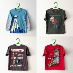 Bundle of Four Kid's Graphic Tees